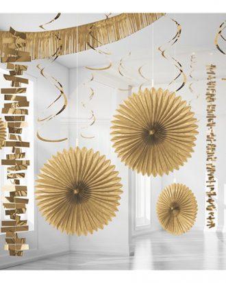 Dekorationskit Guld - 18-pack