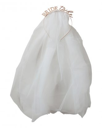 Diadem Bride To Be med Slöja - One size