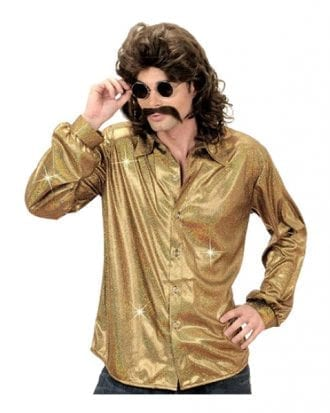 Discoskjorta Guld - X-Large