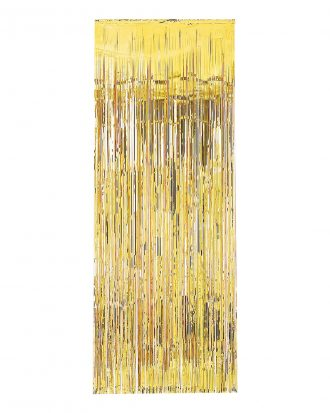 Dörrdraperi Guld Metallic