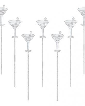 Drinkpinnar Cocktailglas - 50-pack