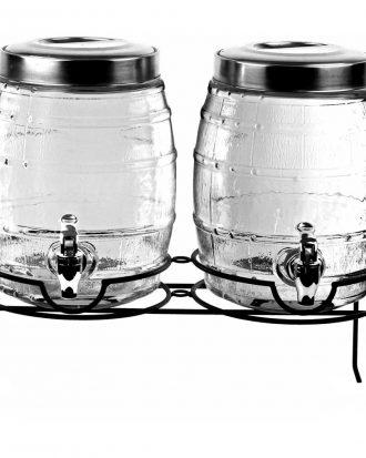 Dryckesdispensers Tunnor med Ställ Dubbel