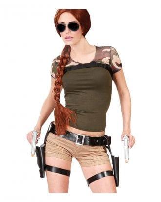 Dubbelt Benhölster med Pistoler