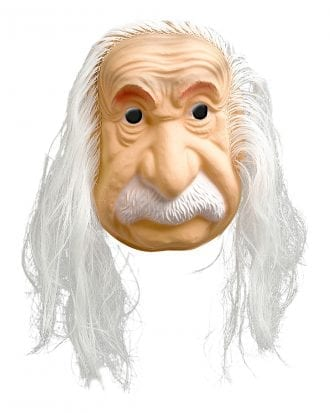 Einstein Mask med Hår - One size