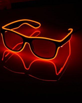 El Wire LED Glasögon - Orange