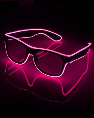 El Wire LED Glasögon - Rosa