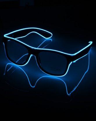 El Wire LED Glasögon - Blå