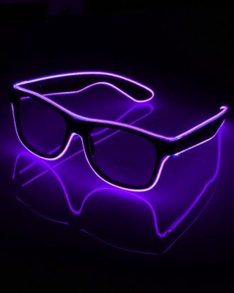 El Wire LED Glasögon - Lila