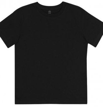 Barn T-shirt i organisk bomull (Svart