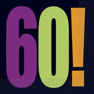 60-års servetter 16 st