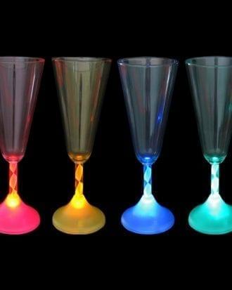 Färgskiftande Champagneglas