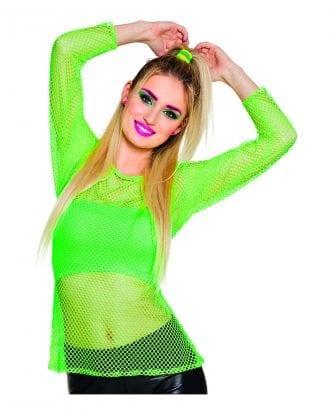 80-tals Nättröja Neongrön - One size