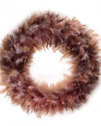 Fjäderkrans Pastellbrun - 30 cm
