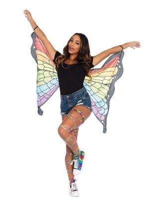 Fjärilsvingar Regnbågsfärgade Deluxe