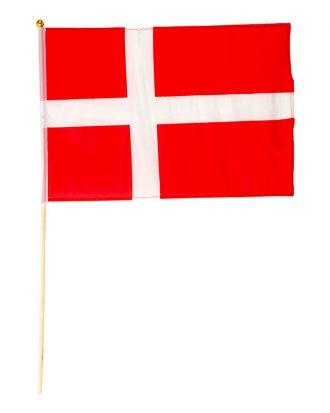 Flagga på Pinne Danmark - 1-pack