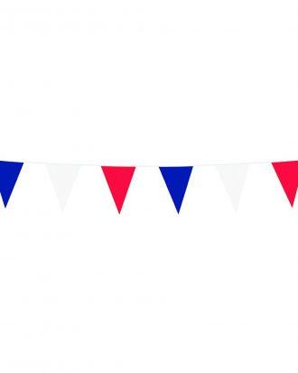 Flaggirlang Röd/Blå/Vit - 3 meter