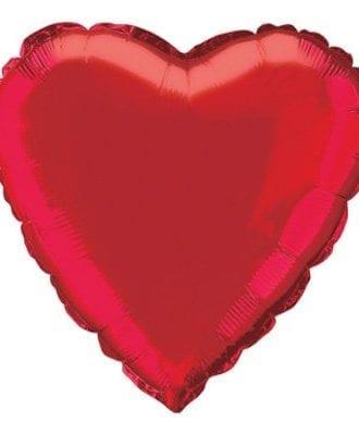 Folieballong Hjärta Rött