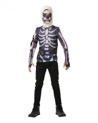 Fortnite Skull Trooper Teen Budget Maskeraddräkt - Large