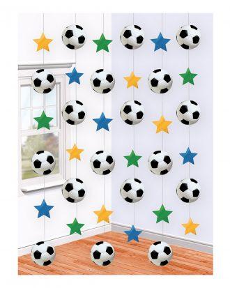Fotboll Hängande Dekoration - 6-pack
