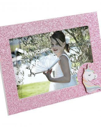 Fotoram Unicorn Rosa/Glitter