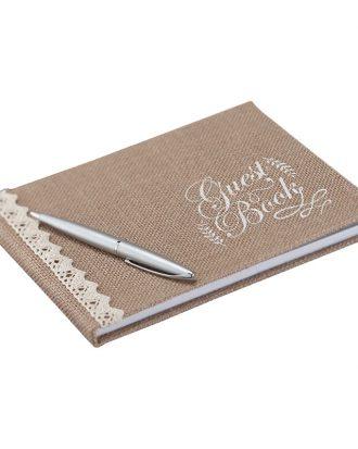 Gästbok i Jute Bröllop