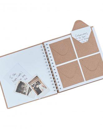 Gästbok med Kuvert Bröllop