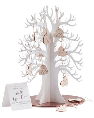 Gästbok Träd med Hjärtan Bröllop