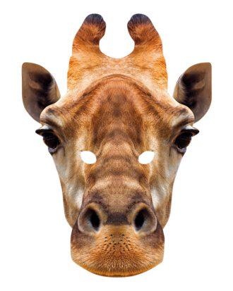 Giraff Pappmask