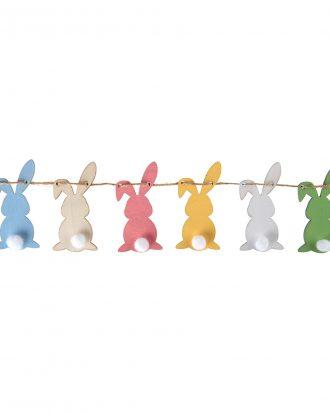 Girlang Kaniner Flerfärgade