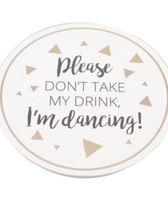 Glasunderlägg I'm Dancing - 6-pack