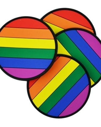 Glasunderlägg Pride - 4-pack