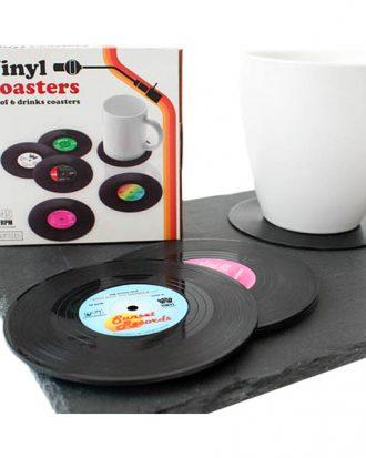 Glasunderlägg Vinylskivor Retro - 6-pack