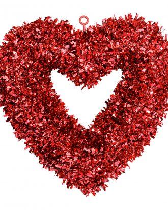 Glitterhjärta Dörrdekoration