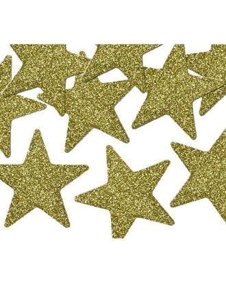 Glitterstjärnor Guld - 8-pack