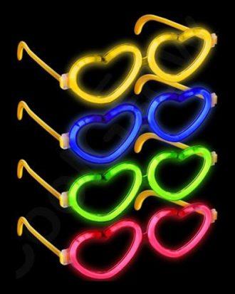 Glowsticksglasögon Hjärtan - Osorterat