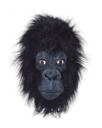 Gorilla Mask Svart - One size