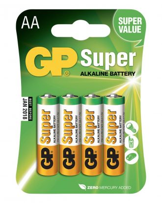 GP Super Alkaline Batterier - 4-pack AA