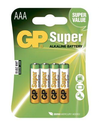 GP Super Alkaline Batterier - 4-pack AAA