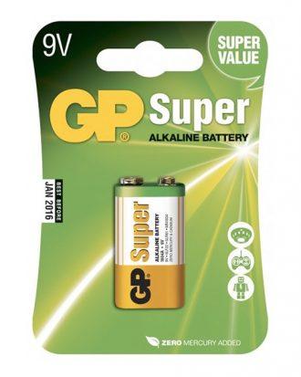 GP Super Alkaline Batterier - 1-pack 9V