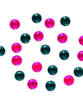 Gröna och Rosa Dekorationspärlor - 40-pack