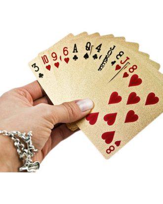 Guldfärgade Spelkort
