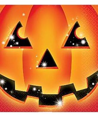 Halloween Pumpa Servetter - 16-pack