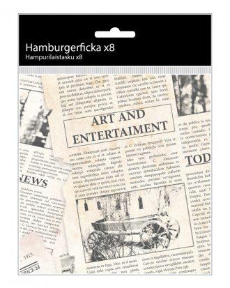 Hamburgerficka i Papper - 8-pack