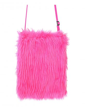 Handväska Fluffig Neon Rosa