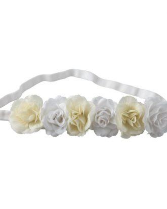 Hårband Blommor Gul/Vit