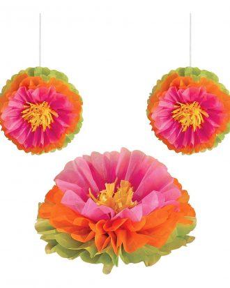 Hibiskus Honeycombs Dekoration - 3-pack