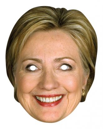 Hilary Clinton Pappmask