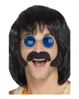 Hippie Polisonger & Mustasch Svart - One size