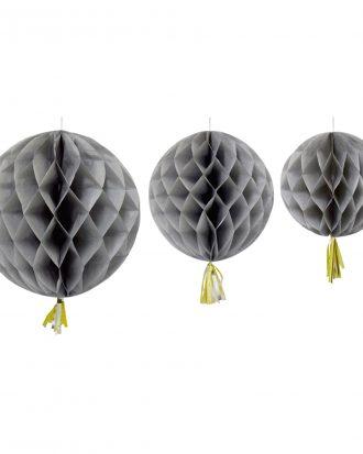 Honeycomb Tassel Grå - 3-pack