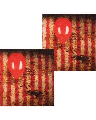 Horror Clown Servetter - 12-pack
